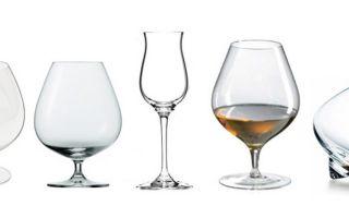 Бокалы под коньяк: название, известные производители и разновидности посуды для алкоголя