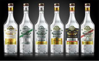 Водка Зеленая марка: история создания, классификация и отличительные особенности напитка и отзывы покупателей