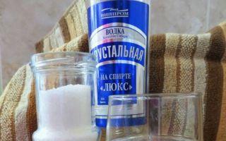 Водка с солью: показания к применению, механизм действия и рецепты приготовления лечебного средства