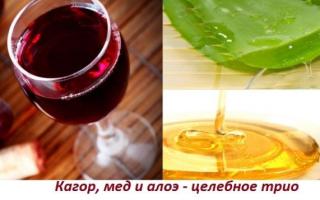 Настойка из алоэ, меда и кагора — пропорции, применение и лечебные свойства, как правильно приготовить напиток